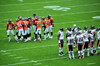Denver, Colorado, USA: Invesco Field at Mile High football stadium - National Football League game - Denver Broncos vs. Chicago Bears - the teams prepare their moves before a line of scrimmage - photo by M.Torres