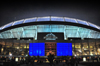 Denver, Colorado, USA: Invesco Field at Mile High football stadium at night - architecture by HNTB Corporation of Howard, Needles, Tammen & Bergendoff - home venue of the NFL Denver Broncos and Denver Outlaws lacrosse team - Sun Valley district - photo by M.Torres