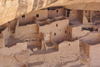 Mesa Verde National Park, Montezuma County, Colorado, USA: Cliff Palace - built right into the sheer cliff, carved into the soft stone, and then extended with stone and adobe walls - photo by A.Ferrari
