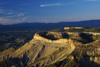 Mesa Verde National Park, Montezuma County, Colorado, USA: panoramic outlook, from Park Point Overlook - cliffs like the Great Wall - photo by A.Ferrari