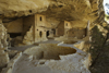 Mesa Verde National Park, Montezuma County, Colorado, USA: ceremonial kivas are some of the 40 rooms of Balcony House - photo by C.Lovell