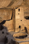 Mesa Verde National Park, Montezuma County, Colorado, USA: square tower and kiva at Cliff Palace - photo by C.Lovell