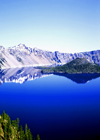 USA - Crater Lake - Cascade mountains (Oregon): blue - photo by J.Fekete