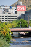 Golden, Jefferson County, Colorado, USA: Coors Brewery and its source of water, Clear Creek - photo by M.Torres
