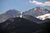 Rocky Mountain National Park, Colorado, USA: peaks seen from Estes Park - photo by M.Torres