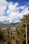 Rocky Mountain National Park, Colorado, USA: pines and peaks - Cumulus clouds - photo by M.Torres