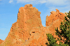 Colorado Springs, El Paso County, Colorado, USA: Garden of the Gods - the 'Sleeping Giant' - unusual hogback formations - Lyons sandstone strata - photo by M.Torres