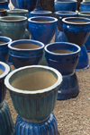 Santa F�, New Mexico, USA: blue vases - Mexican Pottery for sale at the Mercado Trading Post - photo by C.Lovell