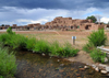Pueblo de Taos, New Mexico, USA: North Pueblo and the Red Willow Creek or Rio Pueblo, a small tributary of the Rio Grande - photo by M.Torres