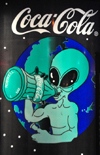 Roswell, Chaves County, New Mexico, US: Coca-Cola joins the alien band-wagon, or vice-versa - photo by M.Torres