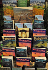 Roswell, Chaves County, New Mexico, US: bookshop display - all the UFO mambo-jambo you may crave for, and more - photo by M.Torres