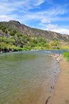 Rio Grande River, Taos County, New Mexico, USA: 2,700 km to go till the Gulf of Mexico - photo by M.Torres
