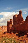 Arches National Park, Utah, USA: Park Avenue trail - rock wall along the eastern side of the canyon - photo by M.Torres