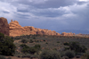 Arches National Park, Utah, USA: Garden of Eden area - cloudy sky - photo by C.Lovell