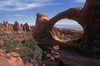 Arches National Park, Utah, USA: Double O Arch in the Devil's Garden - stacked double arch - photo by C.Lovell