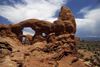 Arches National Park, Utah, USA: Turret Arch - South Window in the background - photo by C.Lovell