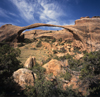 Arches National Park, Utah, USA: Landscape Arch in the Devil's Garden - thin bridge of eroded Entrada sandstone - photo by C.Lovell