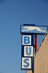 Boise, Idaho, USA: Greyhound Packagexpress Bus Terminal - logo and bus sign - 1212 West Bannock Street -  photo by M.Torres