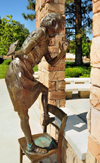 Boise, Idaho, USA: Anne Frank statue - Idaho Anne Frank Human Rights Memorial - sculptor Gregory Stone, designer Liz Wolf - photo by M.Torres