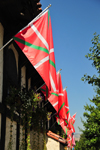 Boise, Idaho, USA: Basque flags at the Basque center - ikurrina - Basque block - photo by M.Torres
