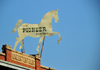 Boise, Idaho, USA: horse above the Pioneer Tent  Building, built in 1910 - 106 N. Sixth St, Old Boise Historic District - photo by M.Torres