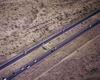 USA - Arizona: motorway seen from the air - desert - Autobahn - photo by W.Allgower
