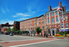 Portsmouth, New Hampshire, USA: Portsmouth Athenaeum - Market Square, looking west along Daniet St. - commercial center of Portsmouth since the mid-1700s - New England - photo by M.Torres