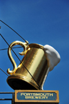 Portsmouth, New Hampshire, USA: Gilded beer mug - Portsmouth Brewery, 56 Market Street - New England - photo by M.Torres