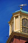 Portsmouth, New Hampshire, USA: tower with weather vane - St. John's Episcopal church -  Chapel Street - New England - photo by M.Torres