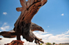 Valle-Williams, Arizona, USA: bronze - eagle sculpture at the Planes of Fame Air Museum - corner of US 180 and Route 64 - photo by M.Torres