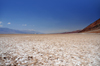 Death Valley National Park, California, USA: Badwater Basin along Badwater Road - salt flats - arid climate where evaporation exceeds precipitation, leaving behind just the salts and fine silt - photo by M.Torres