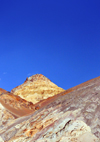Death Valley National Park, California, USA: Artist Drive - Amargosa Range - cone shaped hill - photo by M.Torres