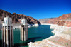 Hoover Dam, Mohave County, Arizona, USA: water intake towers receive the water from Lake Meade reservoir - penstock towers - Black Canyon of the Colorado River - photo by M.Torres