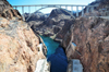 Hoover Dam, Mohave County, Arizona, USA: Mike O'Callaghan – Pat Tillman Memorial Bridge, also known as the Hoover Dam Bypass - the concrete arch rises up from the wall of the Black Canyon, 300 meters above the Colorado River - United States Highway 93 - photo by M.Torres
