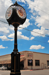 Williams, Coconino County, Arizona, USA: historical Williams Town Clock - corner of Grand Canyon Boulevard and Railroad Avenue, in front of the old Red Garter brothel - Rotary International - photo by M.Torres