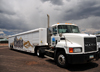 Williams, Coconino County, Arizona, USA: Mack truck brings Coors beer from Golden, CO - photo by M.Torres