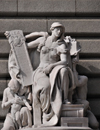 Cleveland, Ohio, USA: Howard M. Metzenbaum Courthouse - sculpture 'Jurisprudence' by Daniel Chester French on Superior Avenue - photo by M.Torres