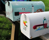York, Maine, New England, USA: mailboxes decorated with lighthouses - Western Point Road - photo by M.Torres