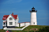 York, Maine, New England, USA: Cape Neddick Lighthouse and the Victorian keeper's house - Nubble Light - photo by M.Torres