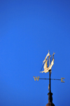 Portland, Maine, New England, USA: golden weathervane at Portland City Hall in the shape of a ship - photo by M.Torres