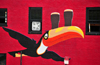 Portland, Maine, New England, USA: Guinness toucan flying with two pints of stout, mural inspired in the posters by John Gilroy - Brian Boru pub - Center Street - photo by M.Torres