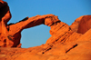Valley of Fire State Park, Clark County, Nevada, USA: natural arch - red sandstone formation - photo by M.Torres