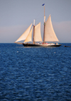 Rockland, Maine, New England, USA: windjamming in Maine - Schooner Nathaniel Bowditch sailing - built in 1922 - photo by M.Torres