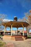 Socorro, New Mexico, USA: bandstand in the central Plaza, officially called Kittrel Park, after a local dentist - Socorro's Historic Plaza - photo by M.Torres