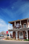 Socorro, New Mexico, USA: Juan José Baca House, built in 1870 - Old Town Bistro - Elfego Baca Heritage Park - photo by M.Torres