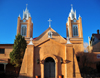 Albuquerque, Bernalillo County, New Mexico, USA: Old City - Iglesia de San Felipe de Neri, established by the Spanish in 1706 - photo by M.Torres