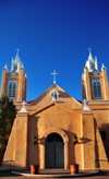 Albuquerque, Bernalillo County, New Mexico, USA: Old City - Iglesia de San Felipe de Neri, named after King Philip of Spain - adobe building - photo by M.Torres