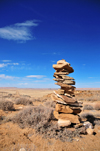 Chaco Canyon National Historical Park, San Juan County, New Mexico, USA: cairn in the middle of nowhere - photo by M.Torres