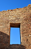 Chaco Canyon National Historical Park, New Mexico, USA: detail of a wall showing the window and the high quality masonry of the Chaco culture - UNESCO World Heritage Site - photo by M.Torres