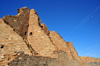 Chaco Canyon National Historical Park, New Mexico, USA: ruined stone masonry walls of Pueblo Bonito - pre-Columbian architecture - photo by M.Torres